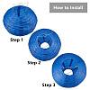 BENECREAT Decoration Accessories Paper Ball LanternAJEW-BC0003-04-7