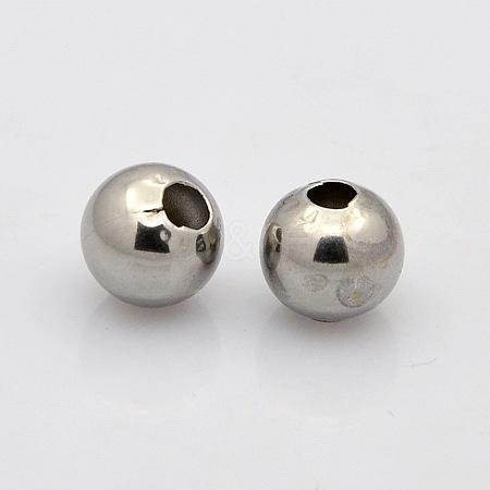 304 Stainless Steel Round Spacer BeadsSTAS-N020-18D-1