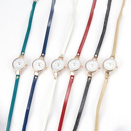 Alloy Watch Head Bracelet WatchesWACH-P017-G-1