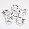 304 Stainless Steel Retractable Clip-on Hoop EarringsSTAS-I097-078P-1