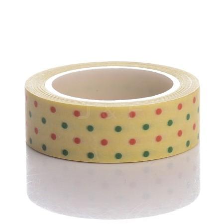 Dot Pattern DIY Scrapbook Decorative Adhesive Tapes for ChristmasDIY-K001-G-07-1