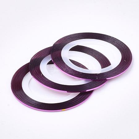 Self-adhesive Ultra Thin Laser Line Nail StickersMRMJ-K006-03-22-1