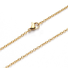304 Stainless Steel Cable Chain Necklace Making NJEW-S420-007A-G