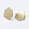 Brass Stud Earring FindingsKK-F728-19G-NF-2