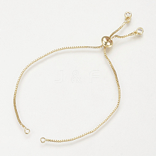 Brass Slider Bracelets Making MAK-R025-02G