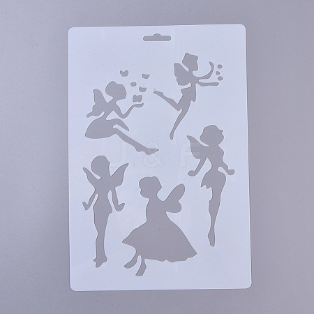 Plastic Drawing Painting Stencils Templates DIY-E015-18H-1