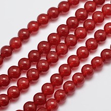 Natural & Dyed Malaysia Jade Bead Strands G-A146-8mm-A02
