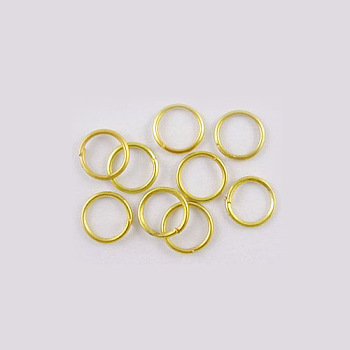 Iron Jump Rings, Close but Unsoldered, Nickel Free, Golden, 21 Gauge, 5x0.7mm; Inner Diameter: 3.6mm; about 225pcs/10g