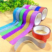 Glitter DIY Scrapbook Decorative Adhesive Tapes DIY-A002-01