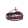 Adjustable Casual Unisex Braided Leather BraceletsBJEW-BB15584-1