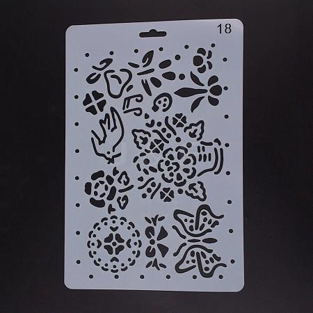 Plastic Drawing Painting Stencils TemplatesDIY-F018-B18-1