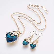 Metal Statement Jewelry Sets SJEW-BB31626-C