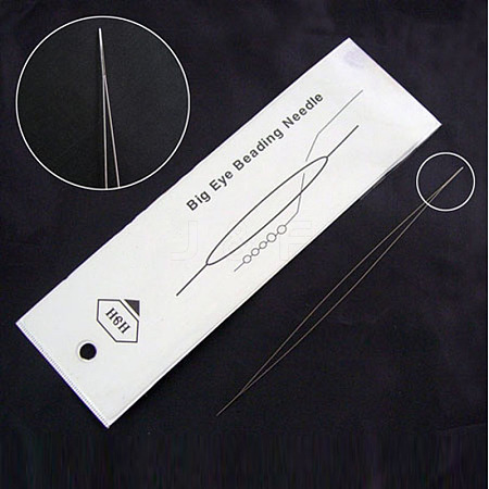 Stainless Steel Collapsible Big Eye Beading NeedlesES001Y-5.0CM-01-1