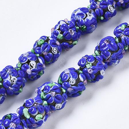 Handmade Lampwork Beads StrandsLAMP-N021-015A-03-1