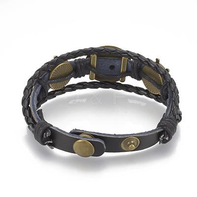 Imitation Leather Bracelet MakingsX-MAK-R024-04-1