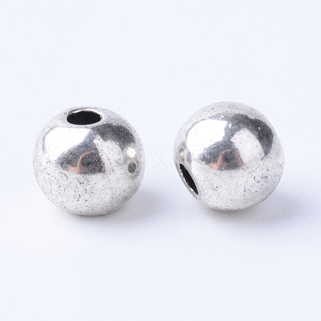 Tibetan Style Alloy Spacer Beads TIBE-Q063-65AS-RS-1