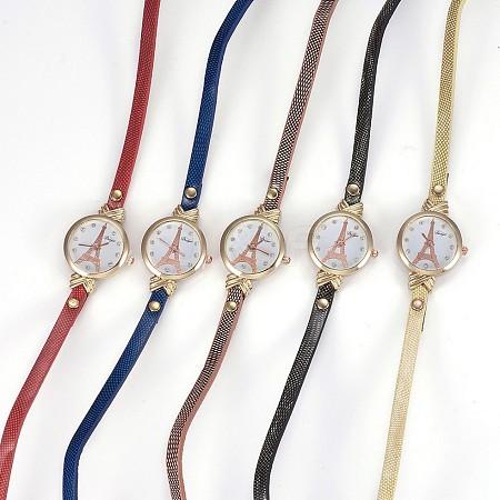 Alloy Watch Head Bracelet WatchesWACH-P017-D-1