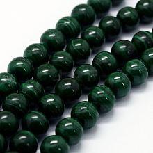 Natural Malachite Beads Strands G-E484-02