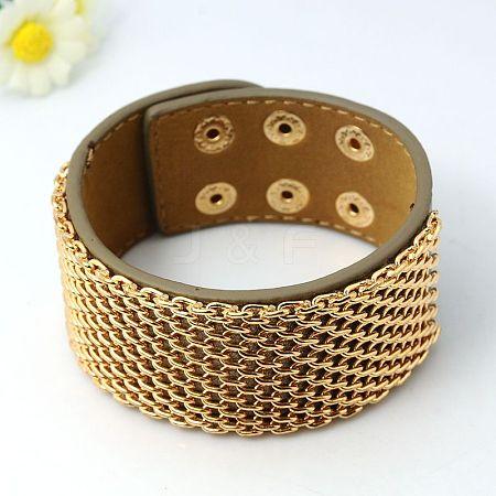 Fashion PU Leather BraceletsBJEW-G353-03-1