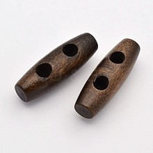 2-Hole Rice Wooden Toggle Buttons BUTT-D044-01
