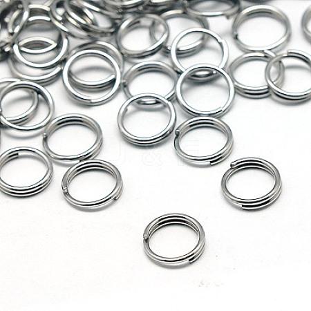 190pcs Jewelry Findings Original Color 304 Stainless Steel Split RingsX-STAS-E010-5x1mm-2-1