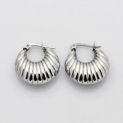 304 Stainless Steel Hoop EarringsEJEW-N0015-06P-1