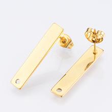 304 Stainless Steel Stud Earring Findings X-STAS-Q231-05G