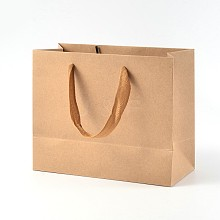 Rectangle Kraft Paper Pouches Gift Shopping Bags AJEW-L047D-01