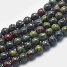 Natural Dragon Blood Beads Strands G-K287-17-8mm