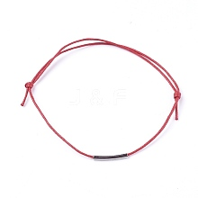 Adjustable Waxed Cotton Cord Bracelets BJEW-JB04242