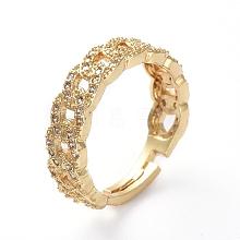 Adjustable Brass Finger Rings RJEW-G096-22G
