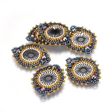 MIYUKI® & TOHO® Handmade Japanese Seed Beads LinksSEED-A029-DA20-1