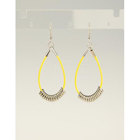 Fashion CCB Plastic EarringsX-EJEW-JE00655-05-1