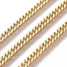 304 Stainless Steel Curb Chains CHS-E018-13G