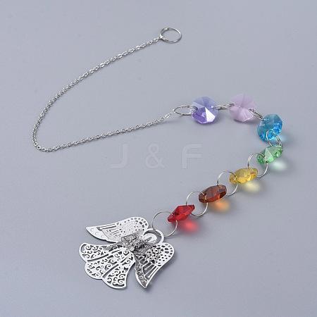Chandelier Suncatchers Prisms Octogon Glass Chakra Hanging PendantAJEW-G025-C05-1