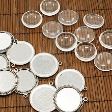 25mm Transparent Clear Domed Glass Cabochon Cover for Photo Pendant Making TIBEP-X0010-FF