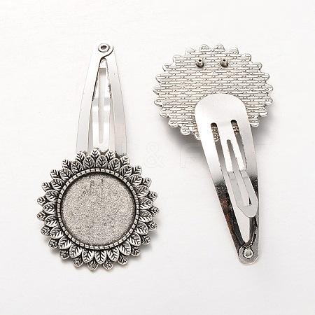 Iron Snap Hair Clip FindingsMAK-J002-18AS-1