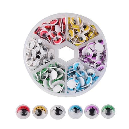 Plastic Wiggle Googly Eyes Cabochons DIY Scrapbooking Crafts Toy AccessoriesKY-X0004-8mm-1