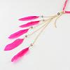 Women's Dyed Feather Braided Suede Cord HeadbandsOHAR-R188-06-3