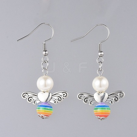 Angel Dangle Earrings EJEW-JE03709-04-1
