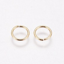 Brass Close but Unsoldered Jump Rings KK-WH0030-03A-G