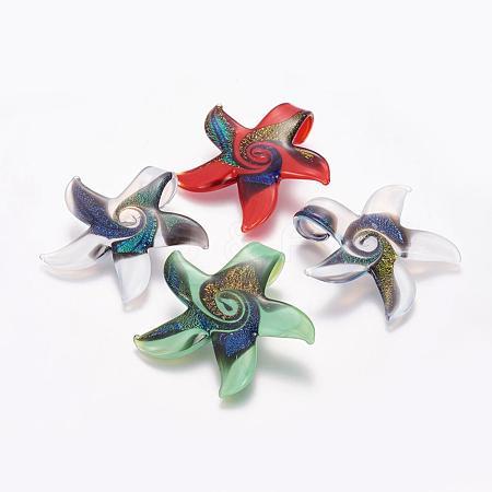 Handmade Dichroic Glass PendantsDICH-X046-M-1