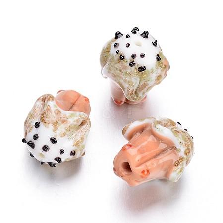 Ice Cream Handmade Lampwork BeadsLAMP-F006-18-1