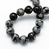 Natural Snowflake Obsidian Round Beads StrandsG-S172-6mm-2