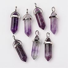Natural Amethyst Pointed Pendants G-F295-05C