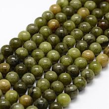 Natural Chinese Jade Beads Strands G-F363-6mm