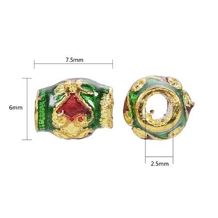 Chinese Style Alloy Enamel BeadsENAM-L015-29A-G-1