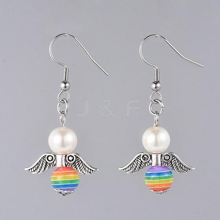 Angel Dangle EarringsEJEW-JE03709-02-1