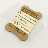 Single Face Words and Ants Printed Cotton RibbonOCOR-R012-1.5cm-B08-1