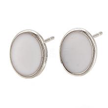 Brass Stud Earring Findings X-KK-S345-269C-P